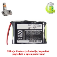 Baterija za bežični telefon KX-A36A 600mAh NiMh
