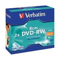 VERBATIM DVD-RW 1-2X 8cm 1.4gb